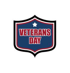 Veterans day shield emblem us military holidayl vector