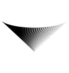 Abstract halftone cone logo symbol vector