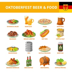 1602i122129pm005c20oktoberfest beer food set vector