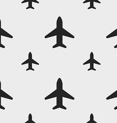 Airplane plane travel flight icon sign seamless vector