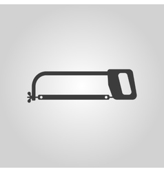 The hacksaw icon hacksaw symbol flat vector