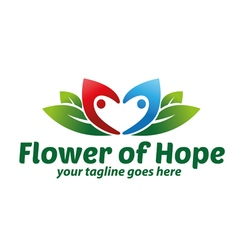 Flower of hope logo vector