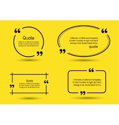 Quote shadow yellow background vector