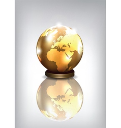 Golden earth vector