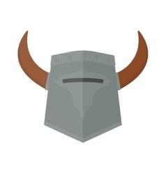 Knight viking helmet vector image