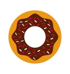 Delicious donut isolated icon design vector