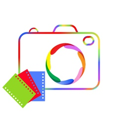 Abstract image of a digital camera and film vector image