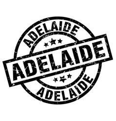 Adelaide black round grunge stamp vector