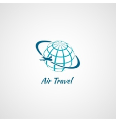Airplane icon globe vector image vector image