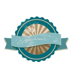 Blank retro vintage label in blue and beige vector image vector image