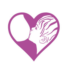 Breast feeding sign breastfeeding vector