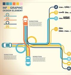 car road fd vector image