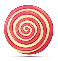 classic lollipop isolated round red vector image vector image