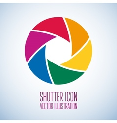 Colorful camera shutter vector