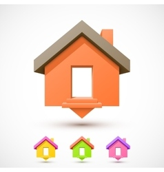 Colorful house pointer vector