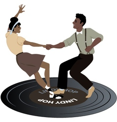 Dancing on a record vector