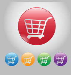Design button buy online web botton and icon cart vector