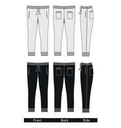 fashion trousers templates vector image vector image