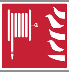 Fire safety icon on white background fire vector