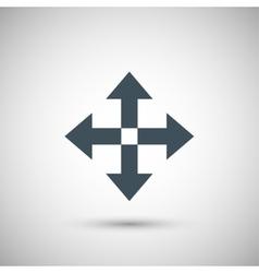 Four blue arrow vector
