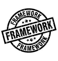 Framework round grunge black stamp vector