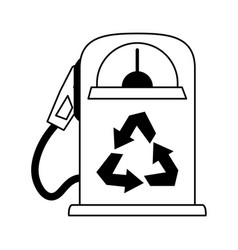 Gas pump recycling related icon image vector