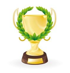 golden cup vector image vector image