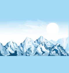 horizontal mountain background vector image