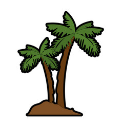 Isolated beach palms vector