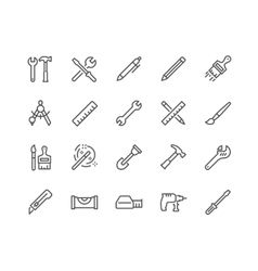 Line Tools Icons vector image