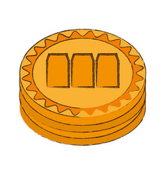 Megacoin cryptocurrency stack icon vector