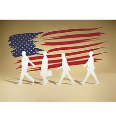 People paper walking vector image vector image