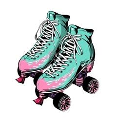 Quad Roller Skates vector image