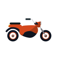 red motorcycle icon vector image