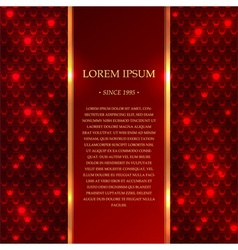 Red shiny background with sparkles vector image