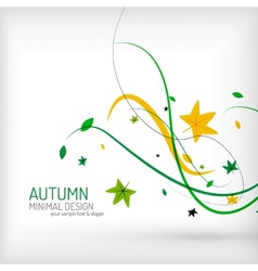 Seasonal autumn greeting card minimal design vector image vector image