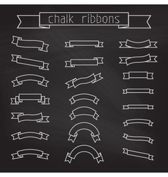set of chalk ribbons vector image vector image