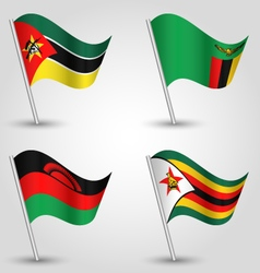 set of flags southeast africa vector image