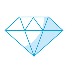 Silhouette beautiful gem diamond to luxury use vector