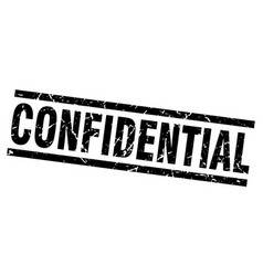 square grunge black confidential stamp vector image vector image