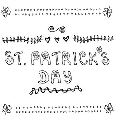 St patriks day lettering poster or card with vector