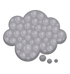 sticker callout for dialogue shape of cloud with vector image vector image