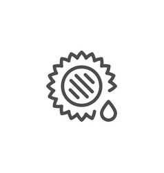 sunflower oil line icon vector image vector image