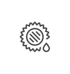 Sunflower oil line icon vector