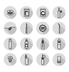 Vaporizer icons set vector