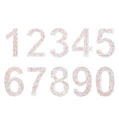 Varicolored numbers vector image