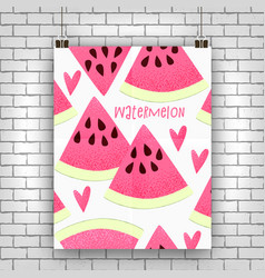 Watermelon design vector