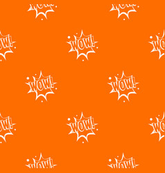 Wow explosion effect pattern seamless vector