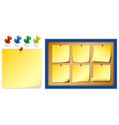 Yellow notepads on board vector