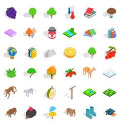 zoology icons set isometric style vector image vector image